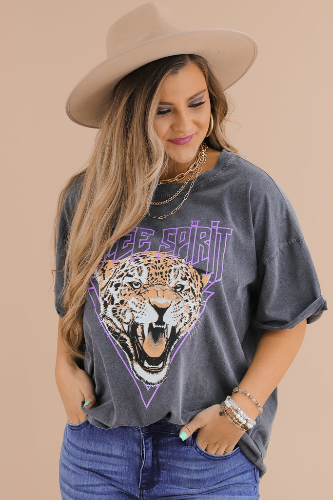A Free Spirit Oversized Graphic Top