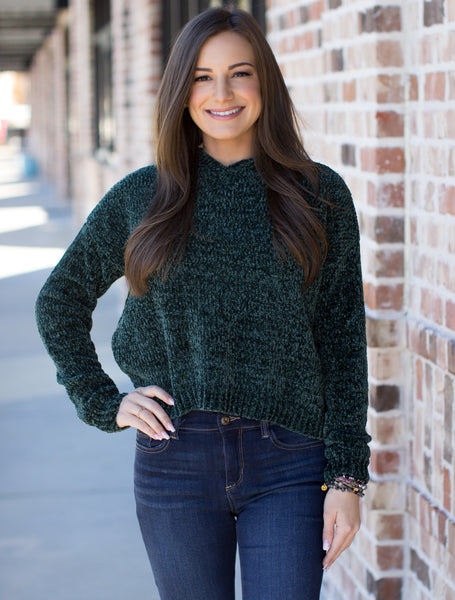 Living On Love Sweater: Pine Green