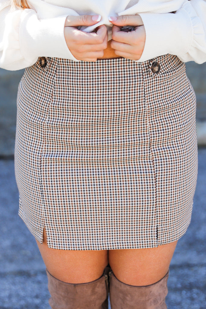 Effort At Ease Printed Skirt