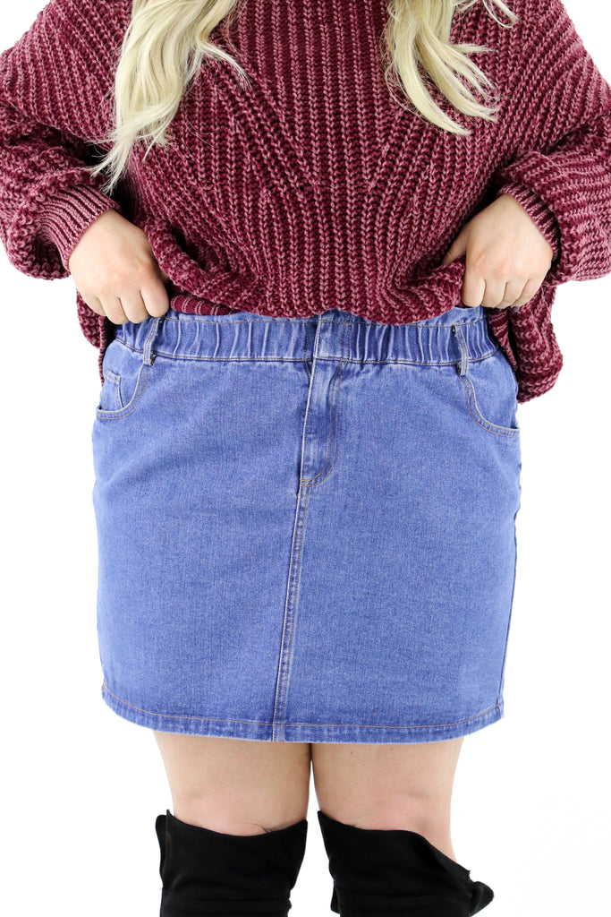 CURVY: Build You Up Denim Skirt