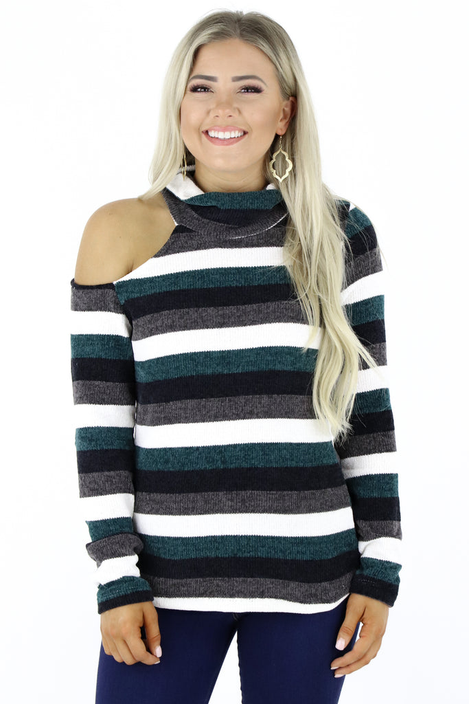 Cover The Basics Striped Sweater