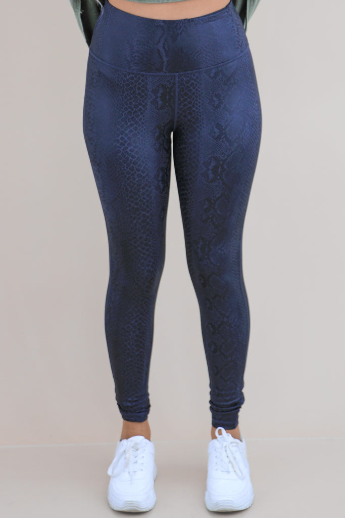 Right This Way Snake Print Leggings