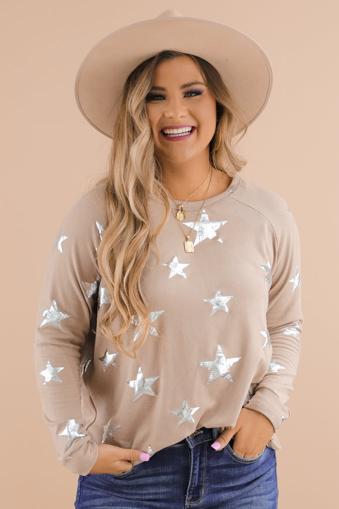 More To See Star Print Top