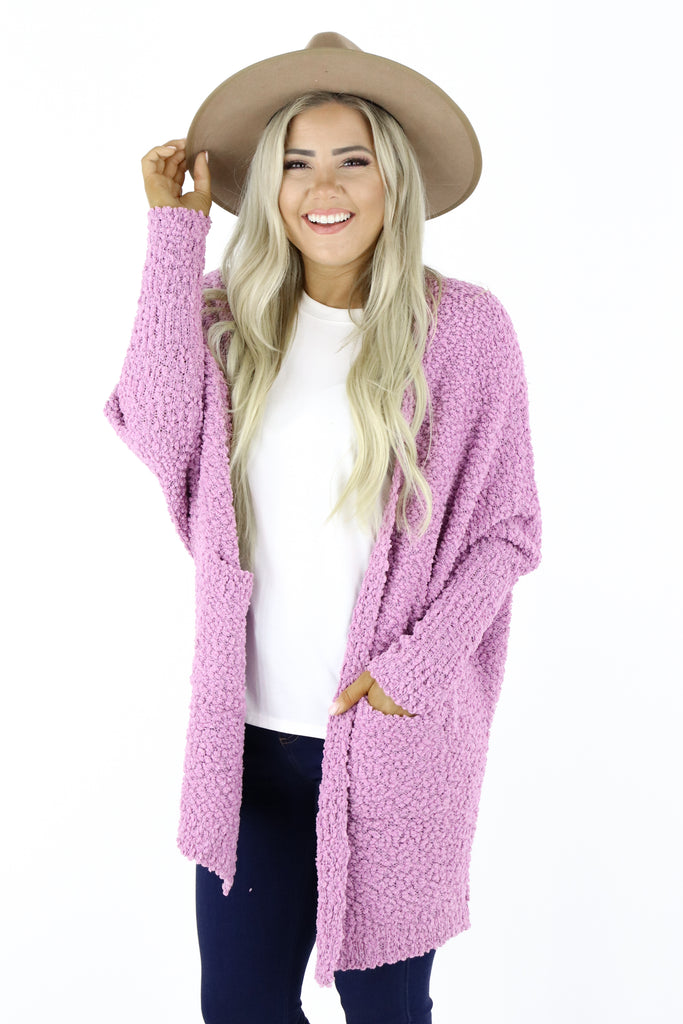 Cold Days Ahead Popcorn Cardigan