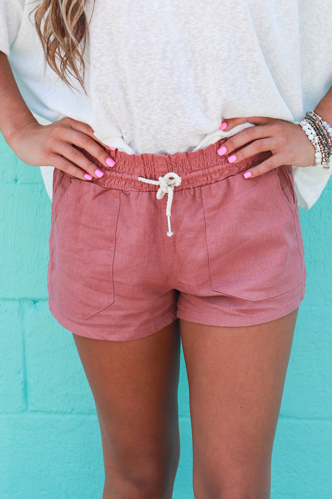 Easy As Can Be Linen Shorts