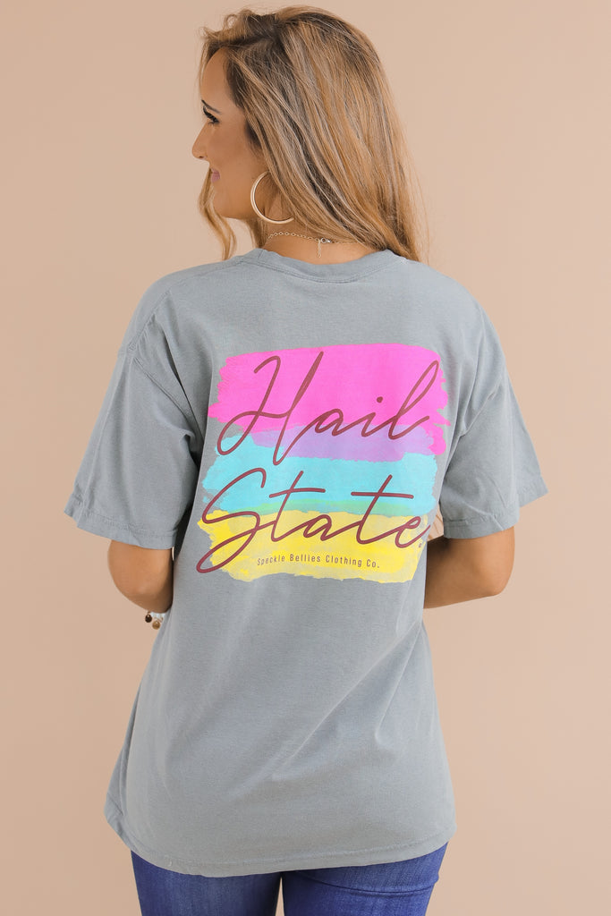 Watercolor Hail State Comfort Color T-Shirt