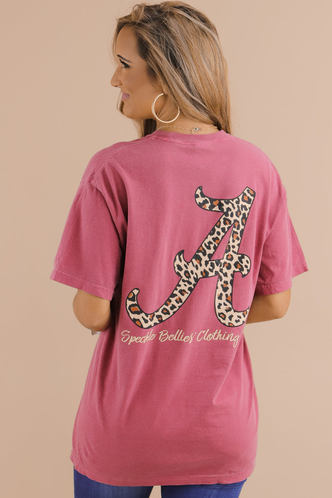 Alabama Leopard Letter Comfort Color T-Shirt
