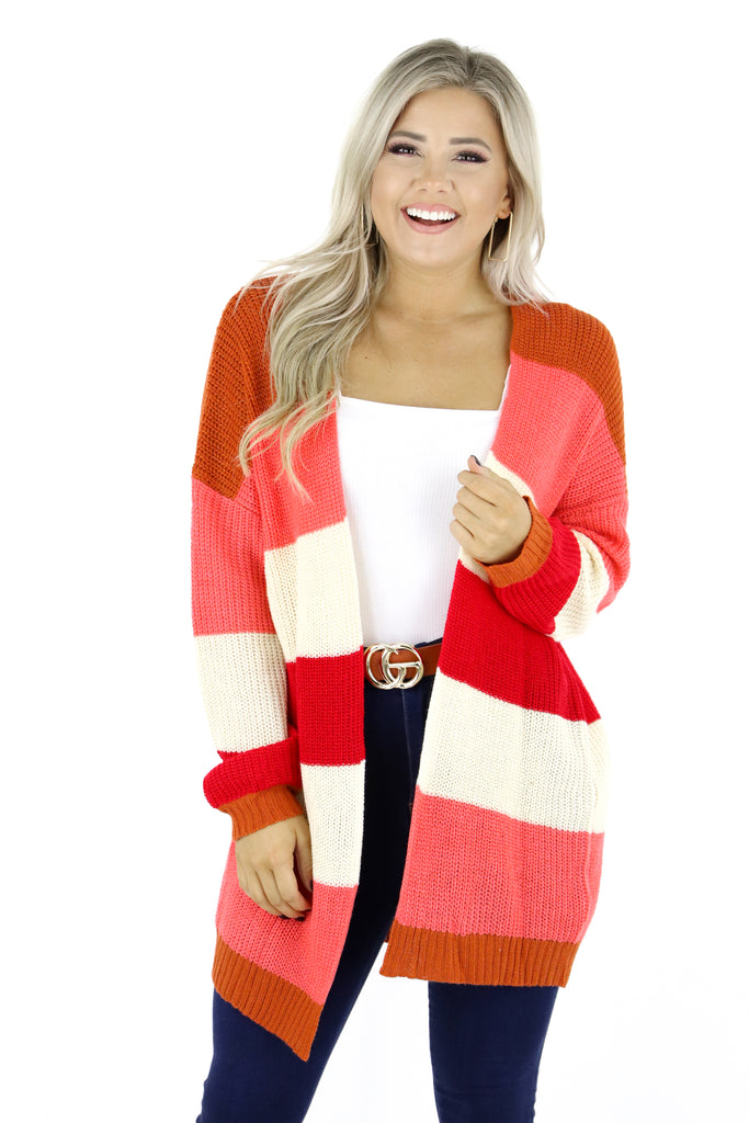 Simple Distractions Color Block Cardigan
