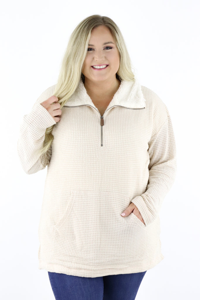 CURVY: Make Up Your Mind Pullover