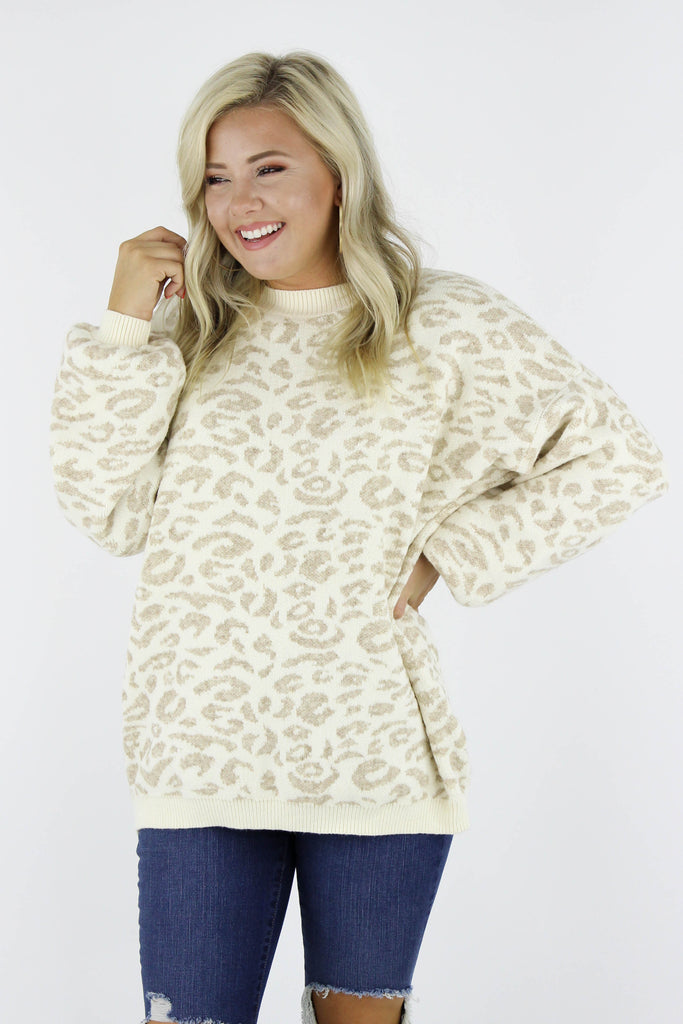 RESTOCK: Blessed With You Leopard Sweater