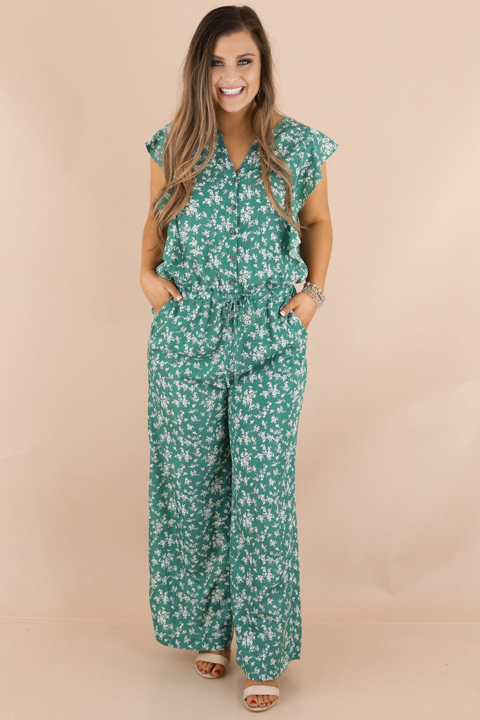 Your Deepest Desires Floral Jumpsuit