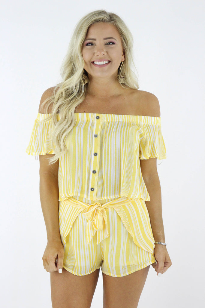One Simple Rule Striped Two Piece
