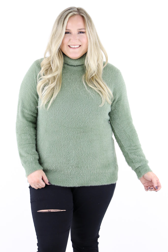 CURVY: Change The Tempo Turtleneck Sweater