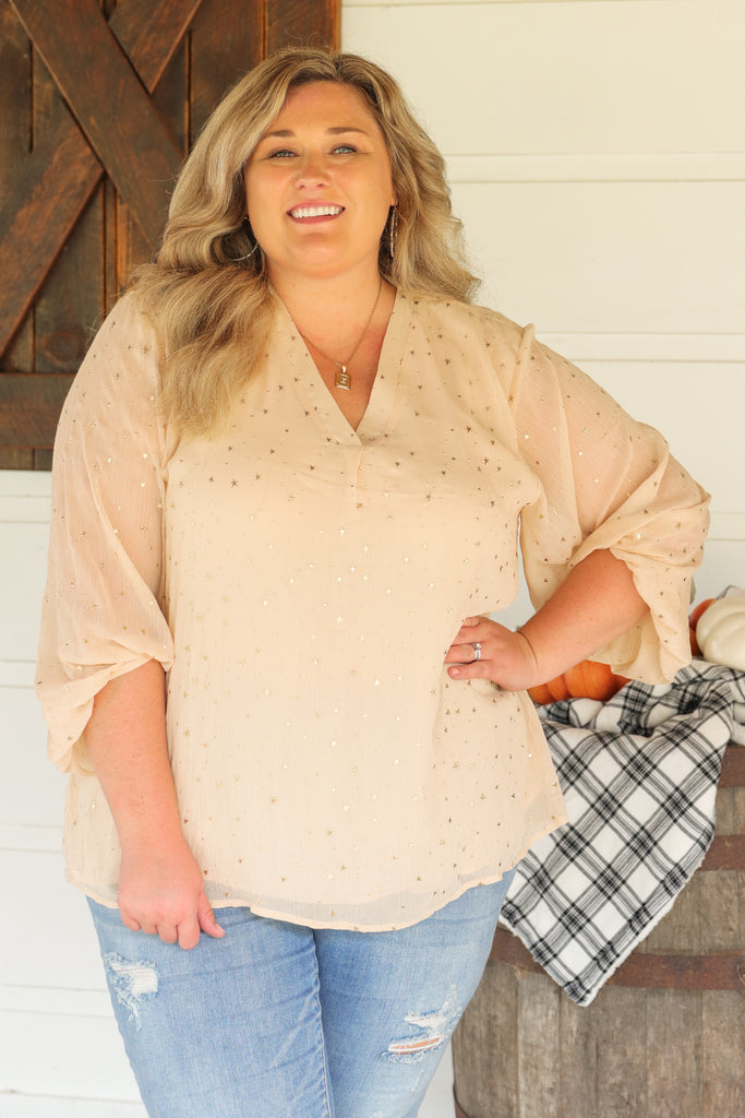 CURVY: A True Believer Blouse