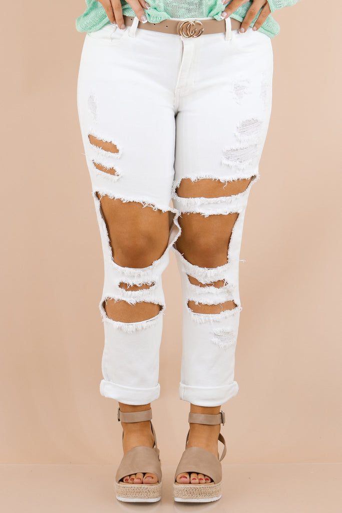 Live On The Edge Mid Rise Straight Jeans