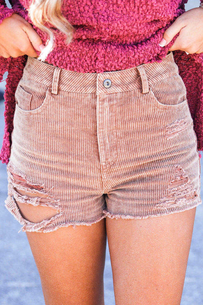 Run Back To You Corduroy Shorts