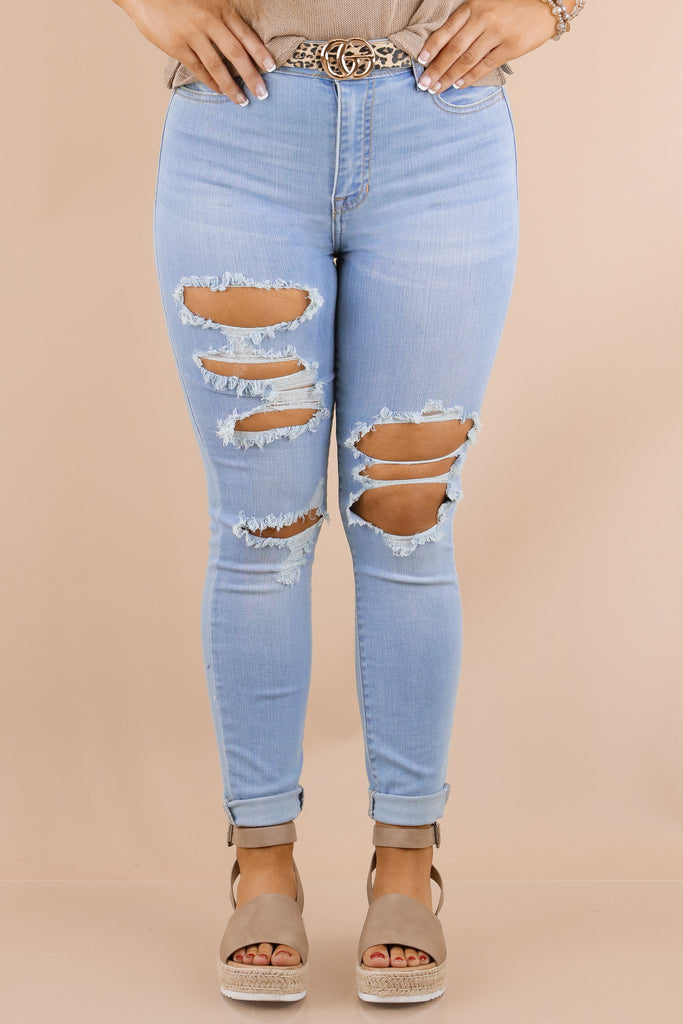 I'll Show You High Rise Distressed Skinny