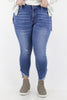 CURVY: So Much Joy Distressed Skinny Jea