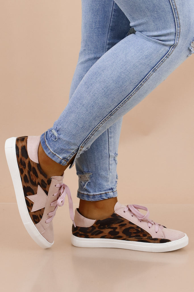 You're A Star Leopard Sneakers