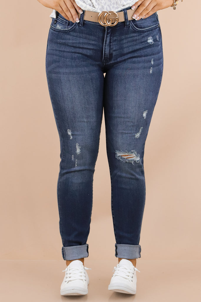 Forever A Favorite Mid Rise Distressed Skinny