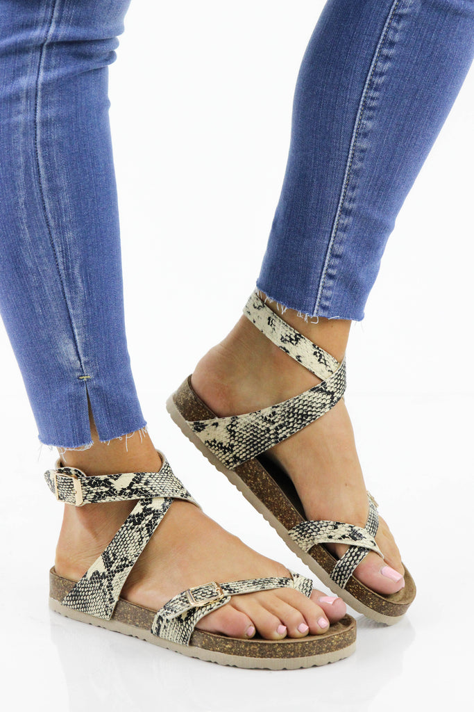 3b4f5dac449f Inspired Birk Ankle Wrap Sandals  Available in 3 Colors