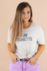 Fun Brunette Graphic Tee