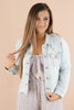 The Cue To Go Distressed Denim Jacket