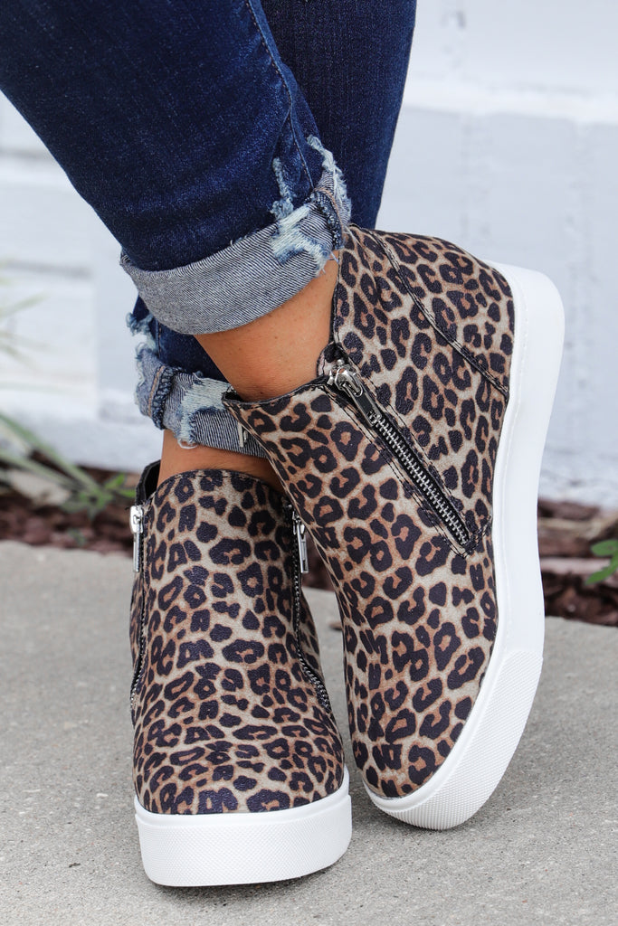 Back In Time Sneaker Wedges