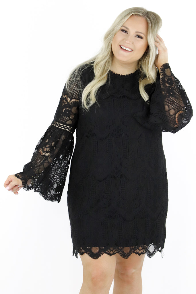 CURVY: Don't Even Bother Lace Dress