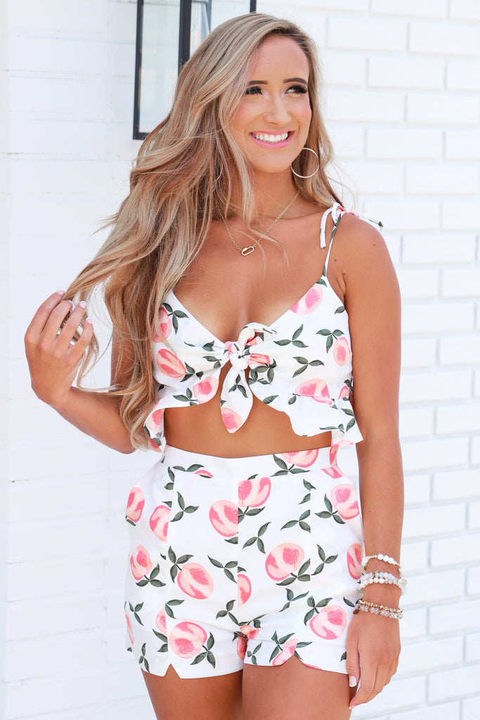 Feelin' Peachy Two Piece Set