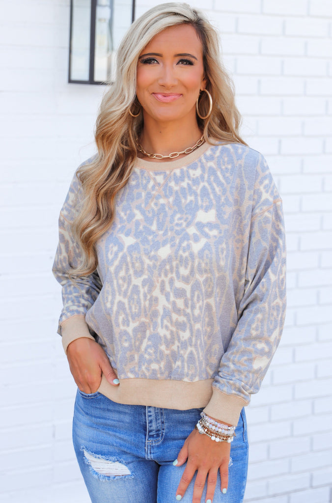 Always Dramatic Leopard Print Top