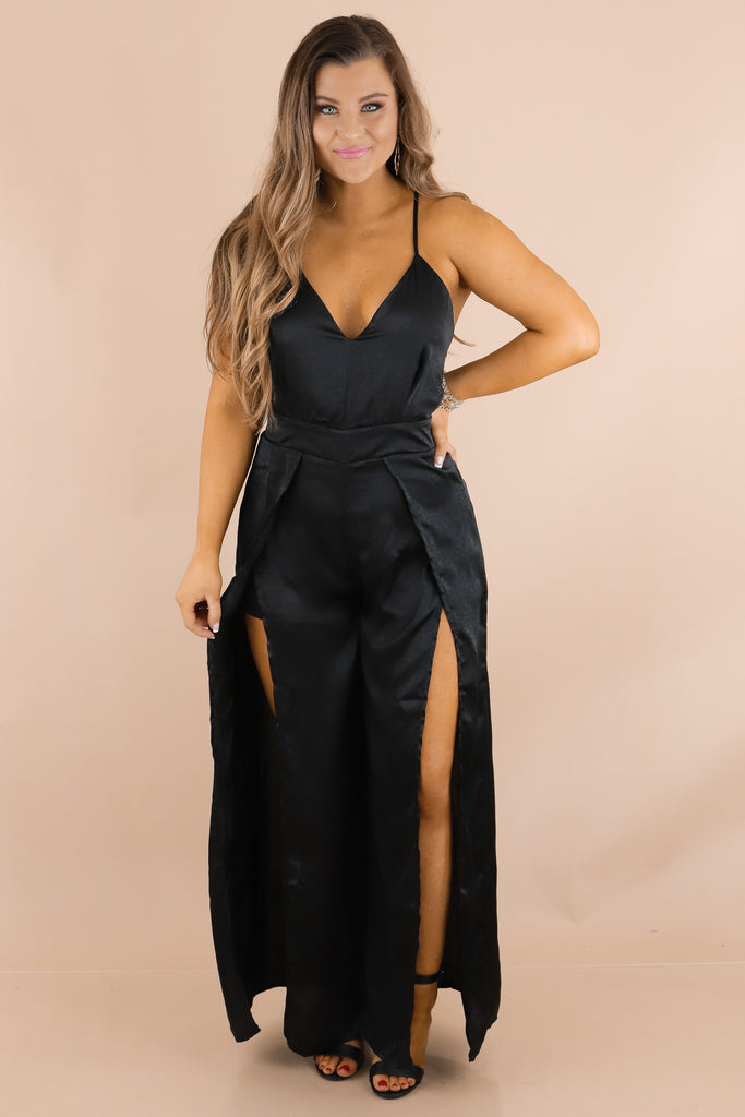 Only Good Intentions Satin Jumpsuit