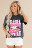 Girl Gang Lips Graphic Top