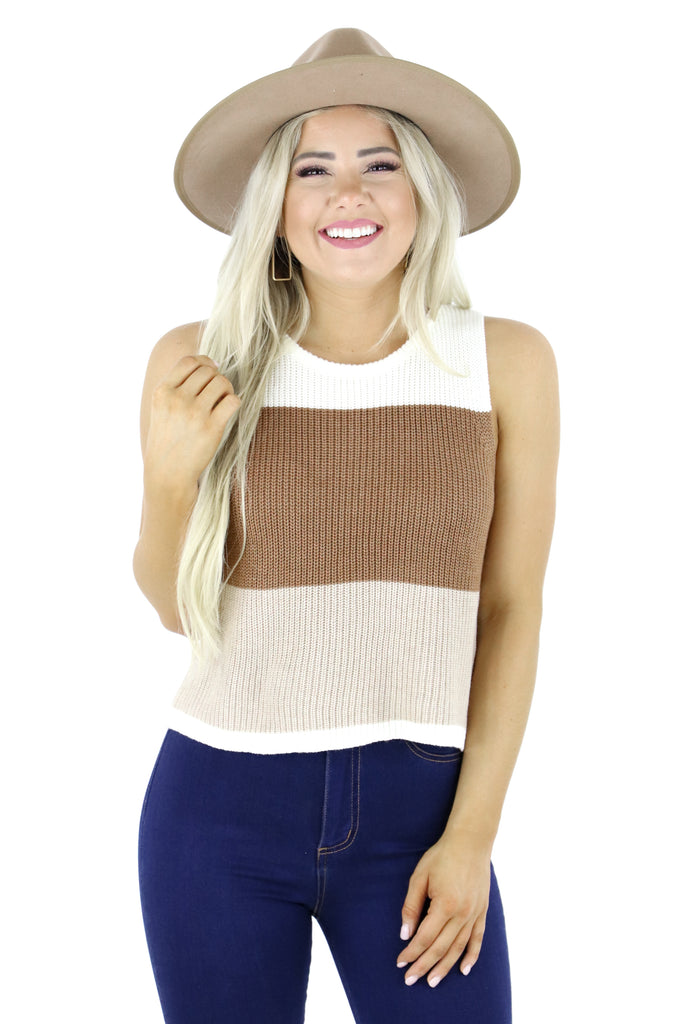 Year Round Sleeveless Sweater Top
