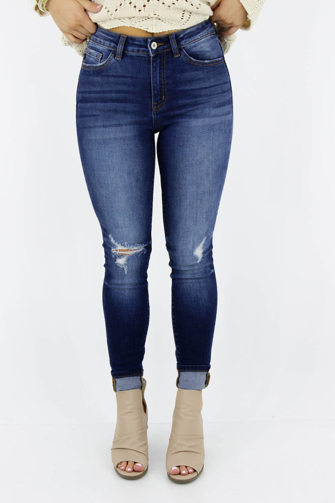 RESTOCK: How You Feel High Waisted Distressed Skinny