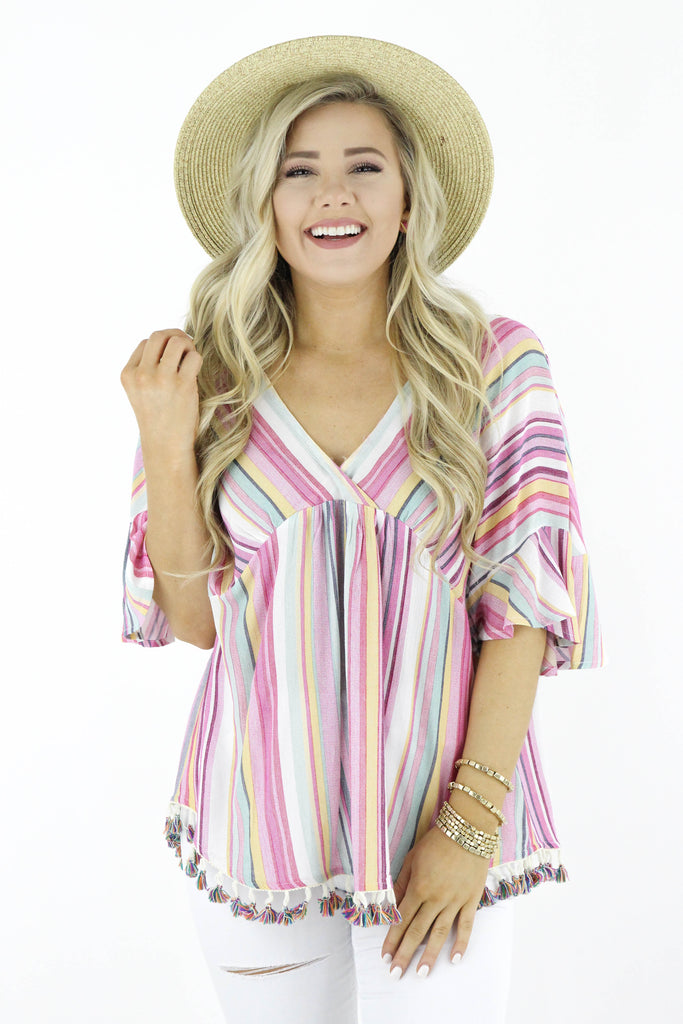 RESTOCK: Sweeter By The Hour Striped Top