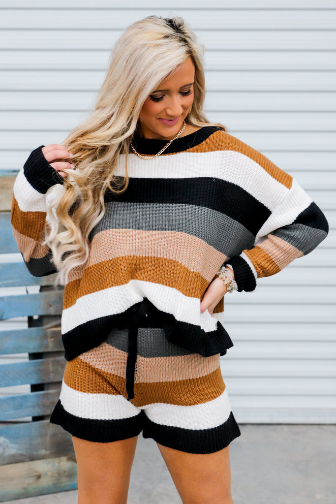 A Million Directions Striped Sweater