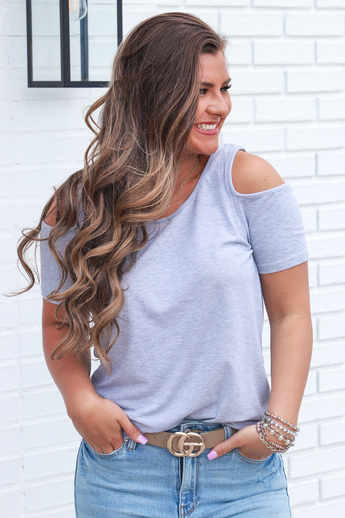 Completely Into It Cold Shoulder Top