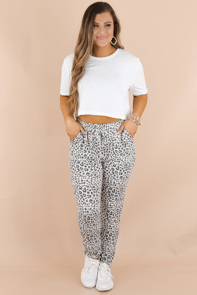 More To Come Leopard Joggers