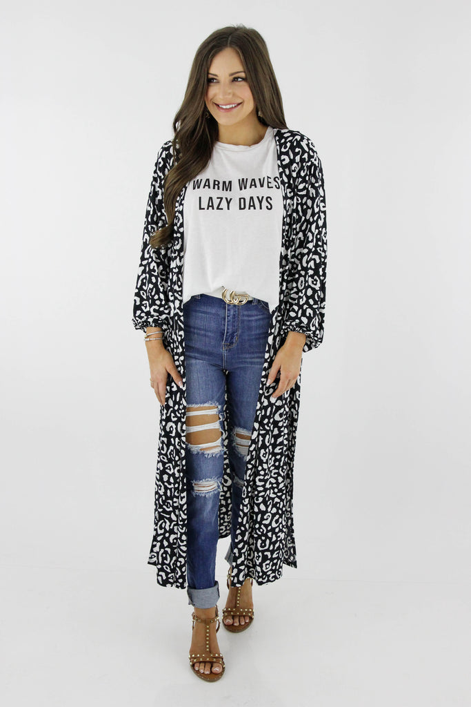 You Ought To Know Leopard Print Duster