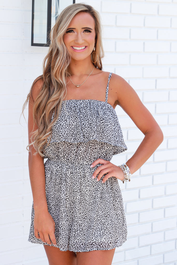 Where To Begin Printed Romper