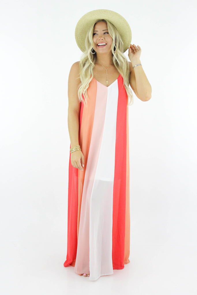 Some Day Soon Striped Maxi Dress