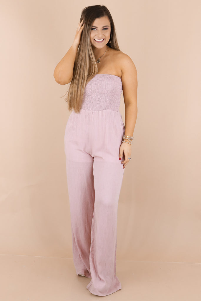 Set An Example Smocked Jumpsuit