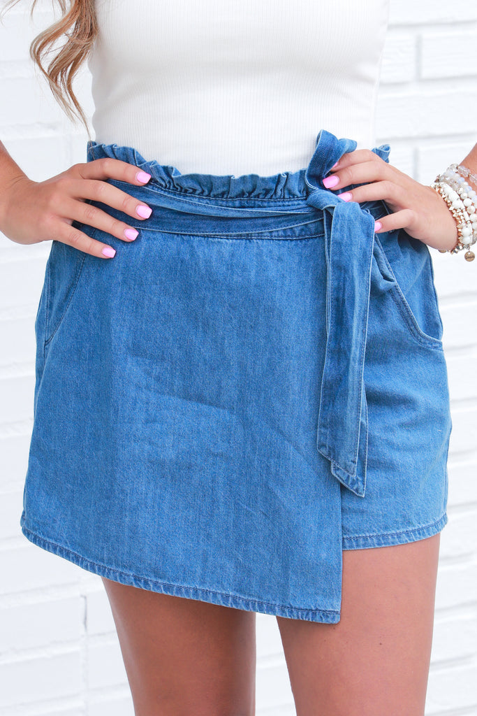 RESTOCK: Make Things Happen Denim Skort