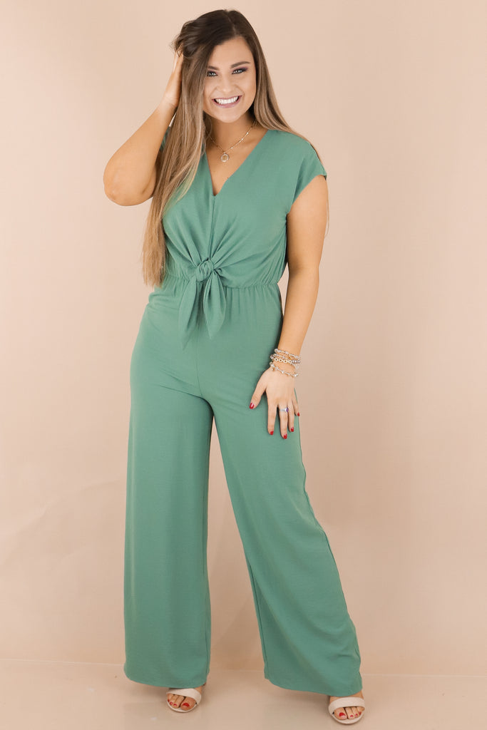 Gather Round Short Sleeve Jumpsuit