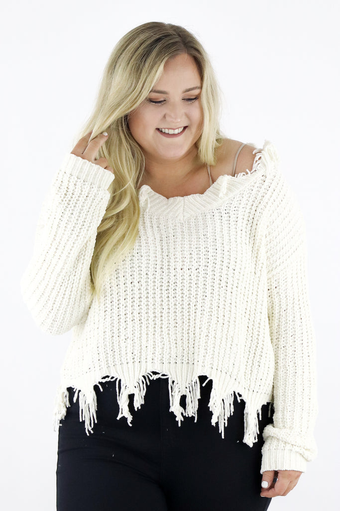 CURVY: Crop Of Fall Crop Sweater