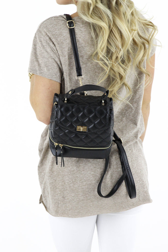 Quilted Leather Backpack