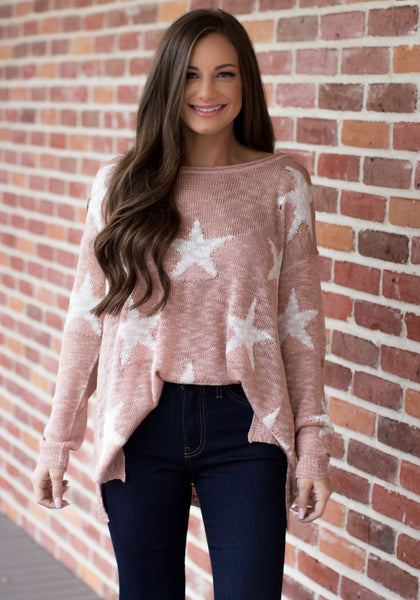 Let The Stars Align Top: Mauve/Ivory