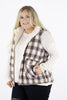 CURVY: Sweeter Together (Reversible) Plaid Vest