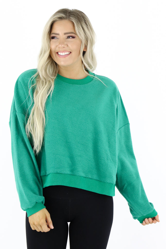 Casual Obsession Inverted Pullover